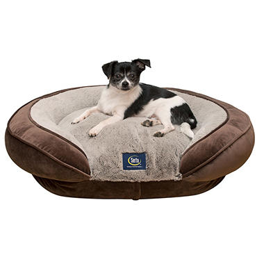 Serta Perfect Sleeper Oval Couch Pet Bed (Choose Your Size & Color)