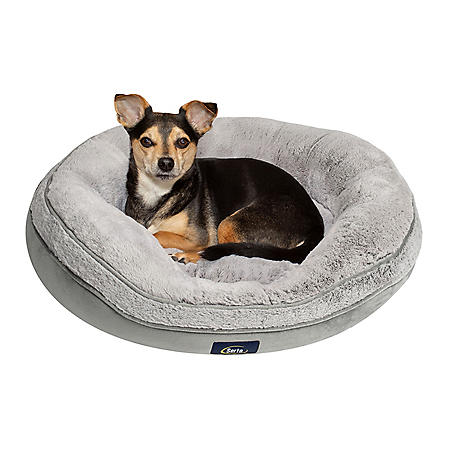 "Serta Oval Cuddler Memory Foam Blend Pet Bed, 27"" x 25"" (Choose Your Color)"