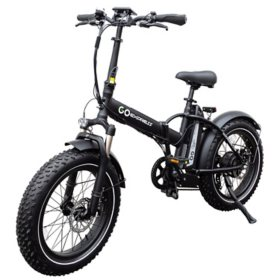 GoExpressBike All Terrain Electric Foldable Bicycle with 500W Removable 48V 110AH Lithium-Ion Battery