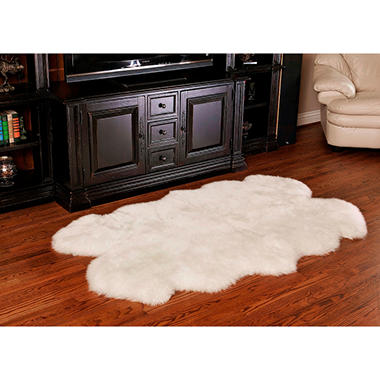 100% Genuine Sheepskin Rug, 70