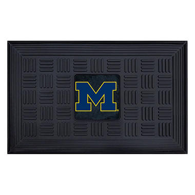 NCAA - University of Michigan Medallion Door Mat