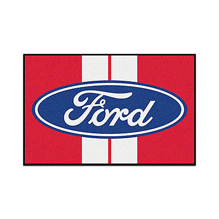 Ford Oval with Stripes Doormat