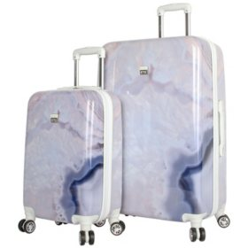 Nicole Miller 2 Piece Hardside Luggage Set