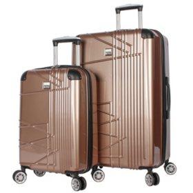 Nicole Miller 2 Piece Hardside Luggage Set