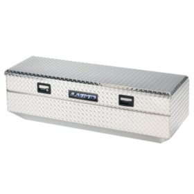 "Lund 56"" Aluminum Flush Mount Single Lid Diamond Plated Truck Tool Box - Silver"
