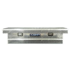 "Lund 70"" Aluminum Cross Bed Diamond Plated Truck Tool Box - Silver"
