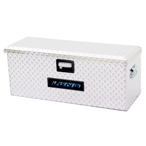 "Lund 32"" Aluminum Diamond Plated ATV Storage Box - Silver"