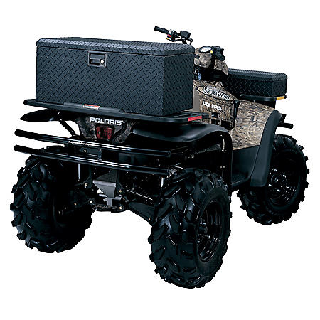 "Lund 32"" Aluminum Diamond Plated ATV Storage Box - Black"