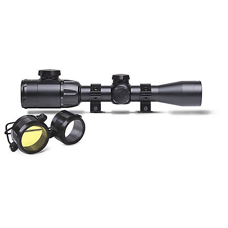 CenterPoint Shotgun/Muzzleloader Scope 2-7x32mm with Picatinny Rings, Red/Green Illuminated TAG BDC Reticle
