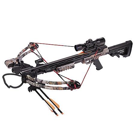 CenterPoint Sniper 370 Crossbow Bundle (Camo)