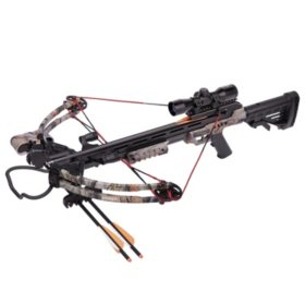 CenterPoint Sniper 370 Crossbow Bundle (Camo)