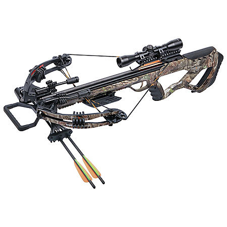 CenterPoint Tormentor Whisper 380 Crossbow Bundle, Camo