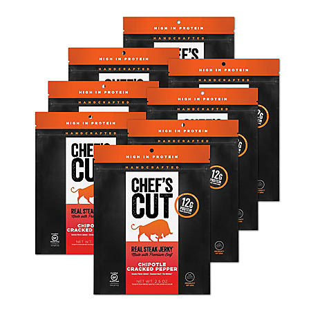 Chef's Cut Real Steak Jerky, Chipotle Cracked Pepper (8 pk.)