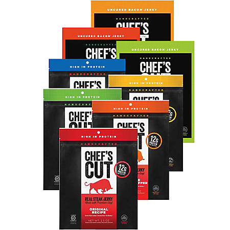 Chef's Cut Real Jerky, Variety (8 pk.)