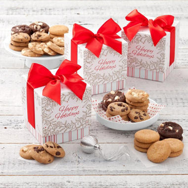 Mrs. Fields Happy Holidays Mini Ribbon Nibbler Boxes (Case of 12)