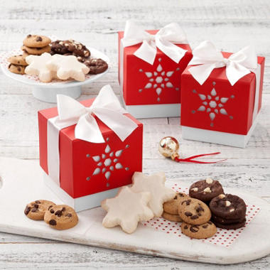 Mrs. Fields Mini Ribbon Snowflake Cut Out Boxes (Case of 10)