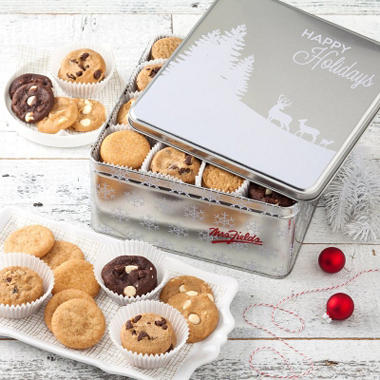 Mrs. Fields Happy Holidays Cookie Tin (24 ct.)