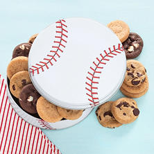 Mrs. Fields Play Ball Cookie Tin