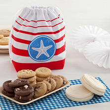 Mrs. Fields Starfish and Stripes Cookie Tote