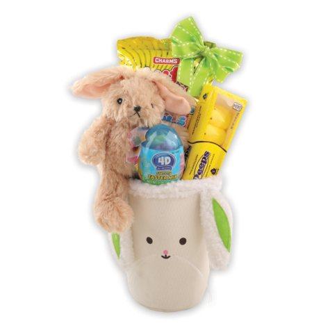 Green Bunny Easter Gift Basket