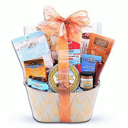 Copper & Light Blue Gift Basket