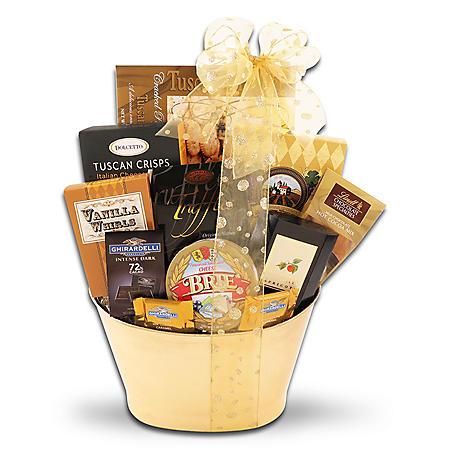 Gold and Black Gift Basket