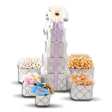 Mother's Day Silver Gift Tower