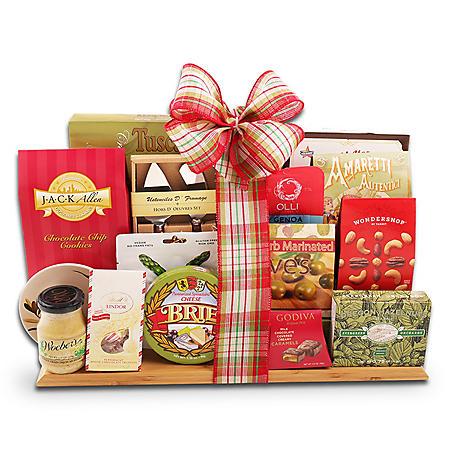 Holiday Cutting Board Gift Basket