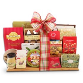 Holiday Cutting Board Gift Basket