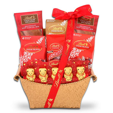 Lindt Holiday Treasures Gift Basket