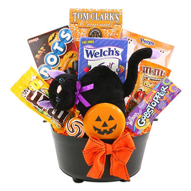Alder Creek's Black Cat Cauldron Gift Basket