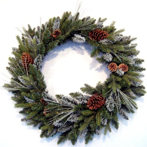 "Large 36"" Deluxe Aspen Lodge Holiday Wreath"