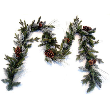 9' Aspen Lodge Holiday Garland