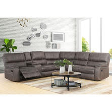 Theodore 6-Piece Fabric Reclining Sectional