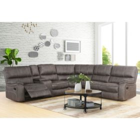 Roosevelt Reclining Fabric 6-Piece Reclining Sectional