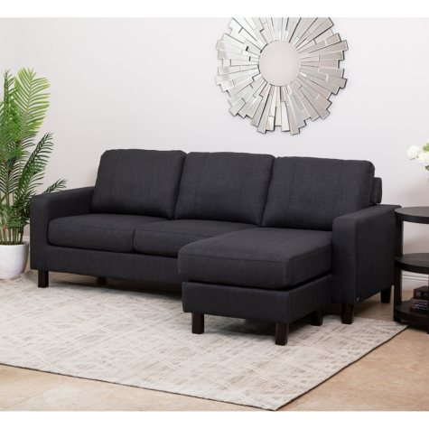 Kristen Fabric Reversible Sectional with Optional Ottoman