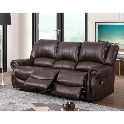Abbyson Living Turner Triple Reclining Fabric Sofa