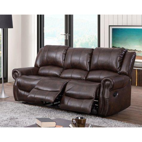 Abbyson Living Turner Triple Reclining Fabric Sofa