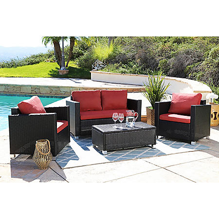 Vancouver 4-Piece Outdoor Seating Set (Assorted Colors)