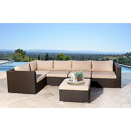 Francisco Outdoor Wicker Modular Patio Sectional