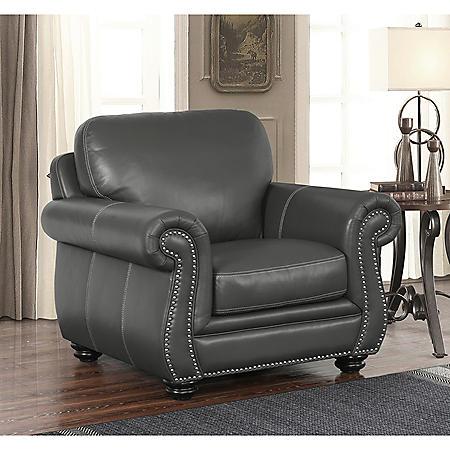 Kassidy Top-Grain Leather Armchair