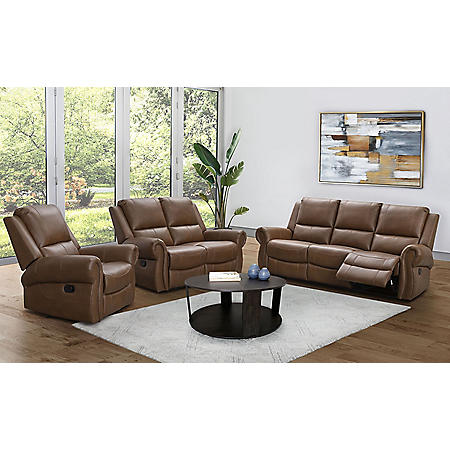 Winston Reclining Sofa, Loveseat and Chair Set, Various Colors