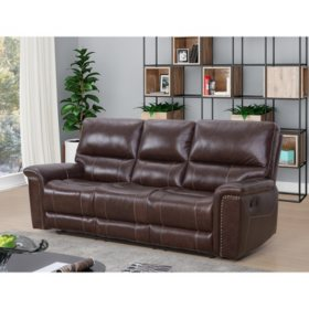 Venice Top-Grain Leather Reclining Sofa