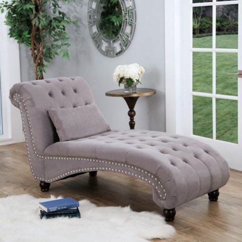Bainbridge Fabric Chaise Lounge (Assorted Colors)