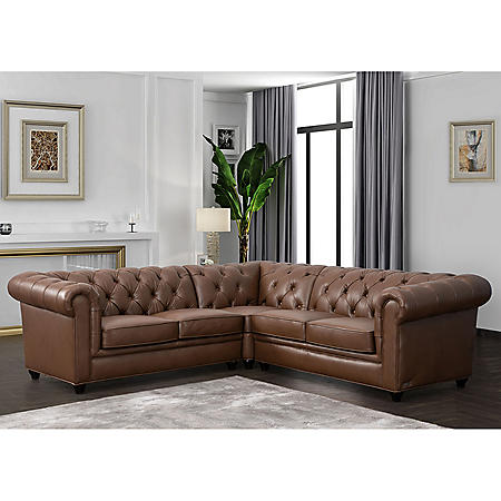 Woodbridge Tufted Chesterfield Sectional (Assorted Colors)