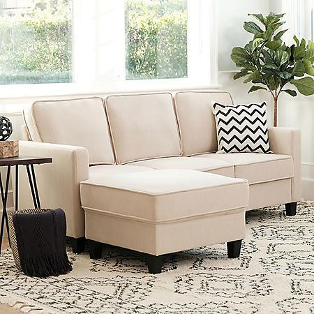 Princeton Fabric Sofa And Ottoman Set Assorted Colors