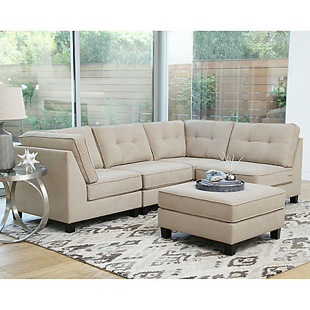Thompson 5-Piece Modular Fabric Sectional (Assorted Colors)