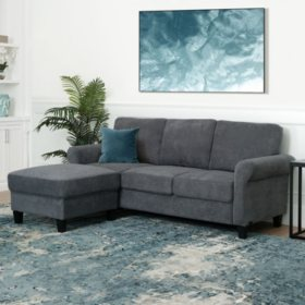 Clarence Fabric Reversible Sofa Sectional Sofa