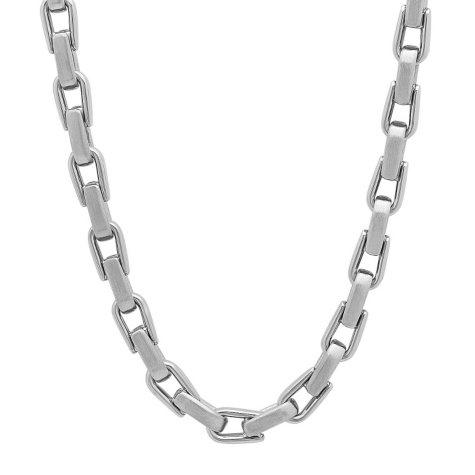 Men's Stainless Steel Wish Bone Chain and Bracelet Set