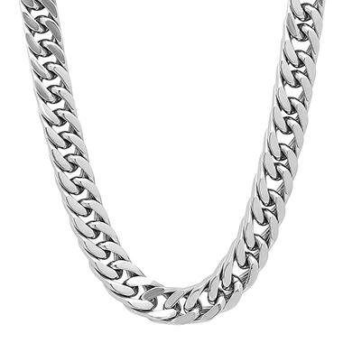 Men's Stainless Steel Heavy Curb Chain and Bracelet Set